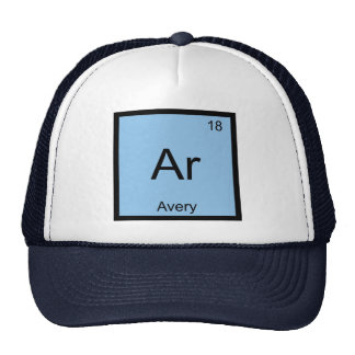 Avery Name Chemistry Element Periodic Table Mesh Hats