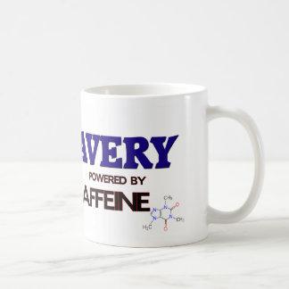 Avery powered by caffeine coffee mug