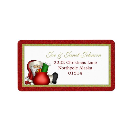 Avery Santa Address Label