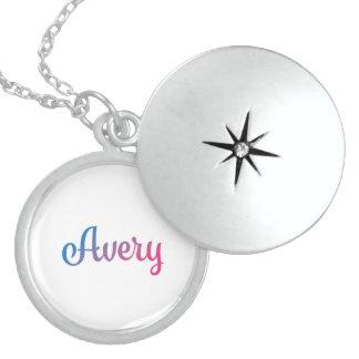 Avery Stylish Cursive Locket Necklace