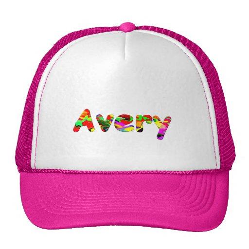 Avery's mesh cap hats
