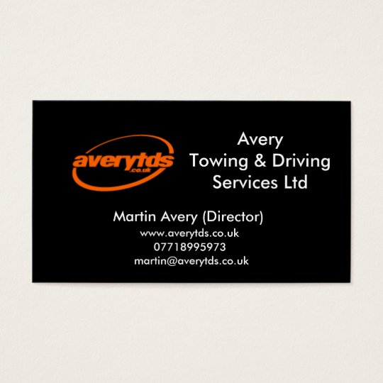 AveryTowing & Driving Services Ltd Business Card