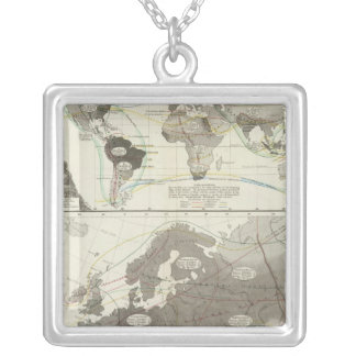 Aves, Birds Silver Plated Necklace