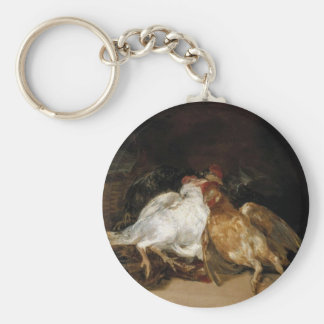 Aves Muertas - Francisco de Goya Basic Round Button Key Ring