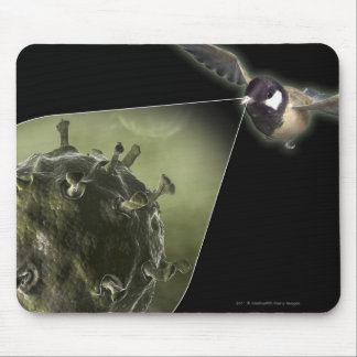Avian flu coming out of bird mouse mat