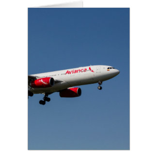 Avianca Airbus A330 Greeting Card