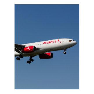 Avianca Airbus A330 Postcard