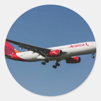Avianca Airbus A330 Round Sticker