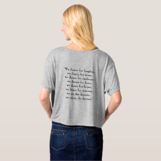 Aviano Ballet Program Womens Shirt Quote