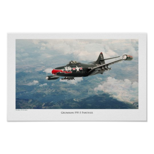 "Aviation Art Poster ""F9F Panther """