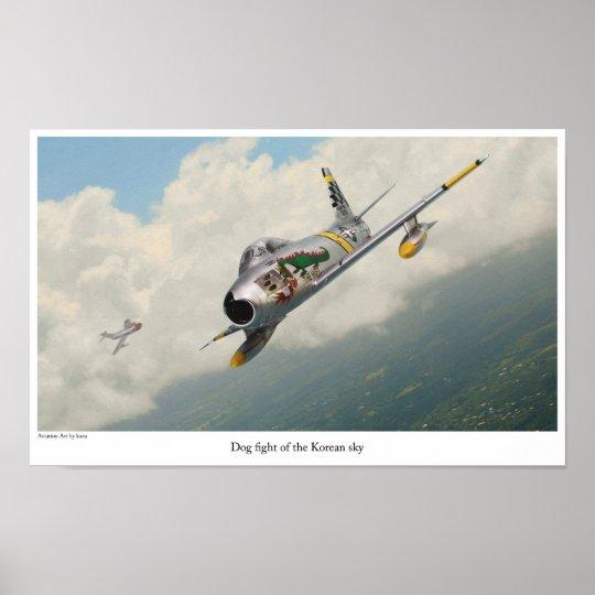 "Aviation Art Poster ""F-86 Sabre"""