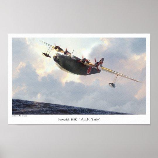 "Aviation Art Poster ""Kawanishi H8K Emily """