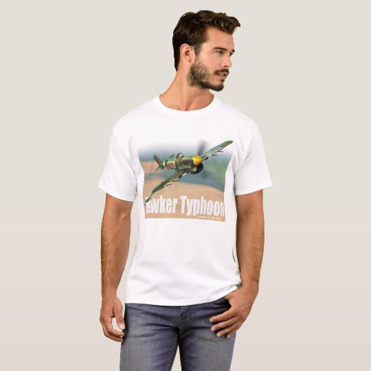 "Aviation Art T-shirt ""Hawker Typhoon """