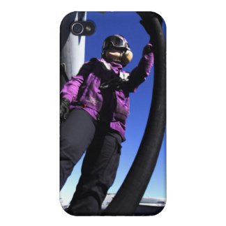 Aviation Boatswain's Mate Airman fuels an aircr iPhone 4 Case