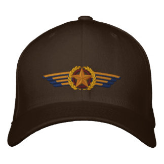 Aviation Embroidered Star Laurels Pilot Wings Embroidered Baseball Caps