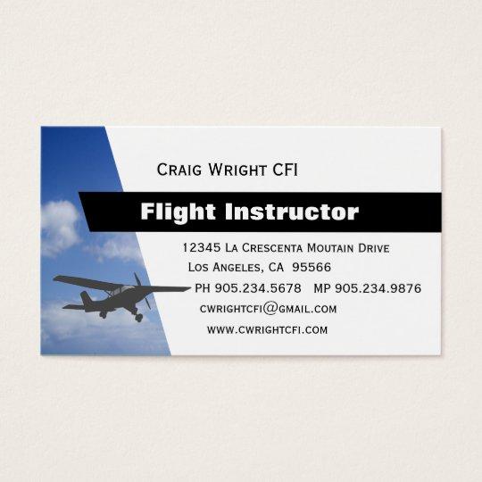 Aviation Flight Instructor Business Card