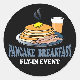 Aviation Fundraiser Fly-In Event Round Sticker
