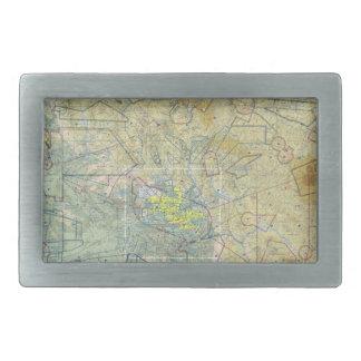 Aviation Map Belt Buckle