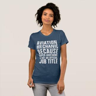 Aviation Mechanic Job Title Shirt