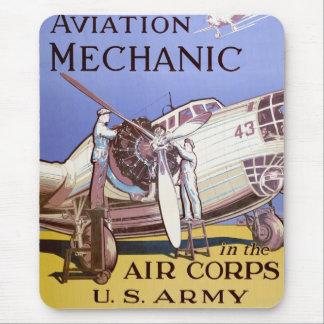 Aviation Mechanic Mouse Mat