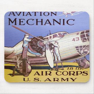 Aviation Mechanic Mouse Pad