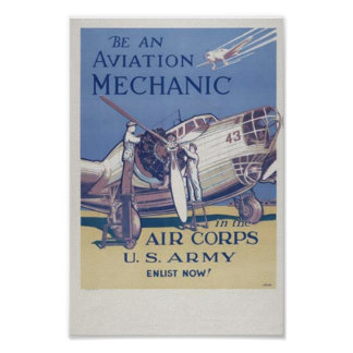 Aviation Mechanic Poster