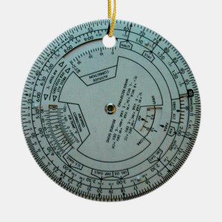 Aviation Navigation Computer Christmas Ornament