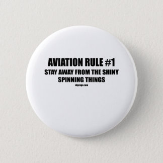 AVIATION RULE 1 6 CM ROUND BADGE