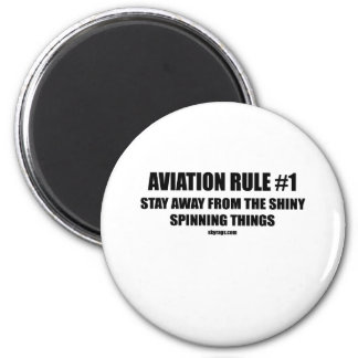 AVIATION RULE 1 6 CM ROUND MAGNET