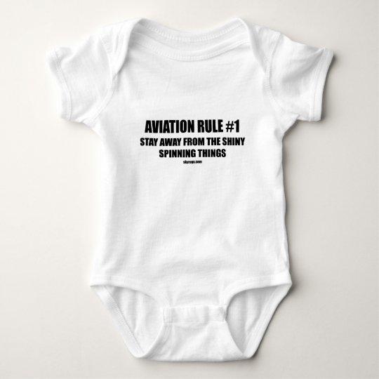 AVIATION RULE 1 BABY BODYSUIT
