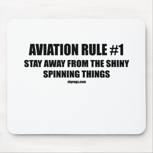 AVIATION RULE 1 MOUSE MAT