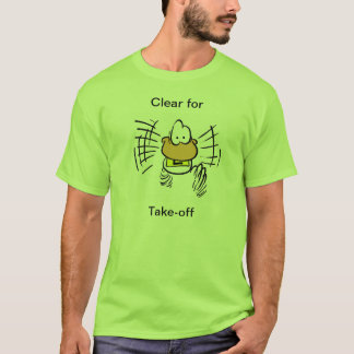 Aviation Take-Off Duck Cartoon Shirt