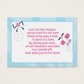 Aviator Airplane Girl Enclosure Book Request Cards