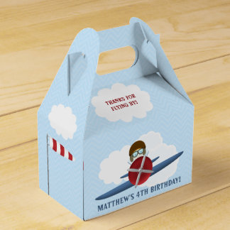 Aviator and His Plane Wedding Favour Boxes