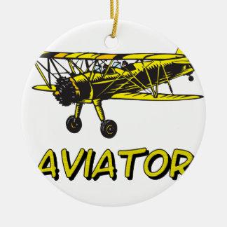 aviator christmas ornament