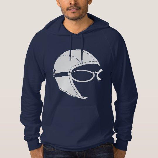 Aviator Fleece Pullover Hoodie, Navy, Unisex