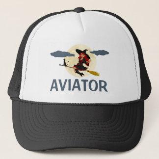 Aviator funny customizable trucker hat