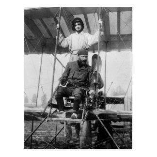 Aviator Henri Farman and Wife, early 1900s Postcard