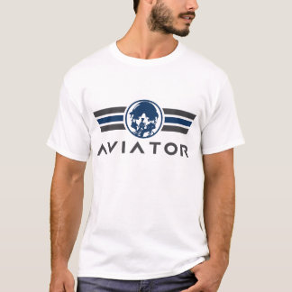 Aviator Logo With Fighter Pilot Helmet and Mask T-Shirt