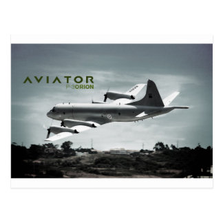 Aviator P3 Orion Airplane Postcard