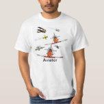 Aviator Plane Humour Men's Shirt
