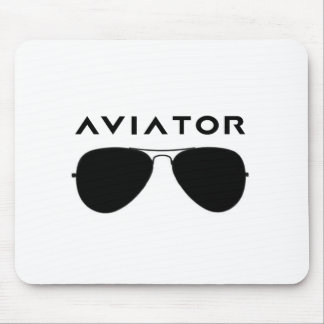 Aviator SUnglasses Silhouette Mouse Pad