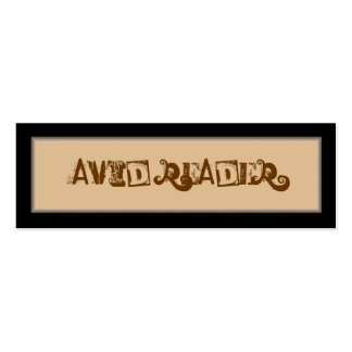 Avid Reader Bookmark Business Card Template