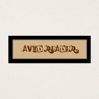 Avid Reader Bookmark Mini Business Card