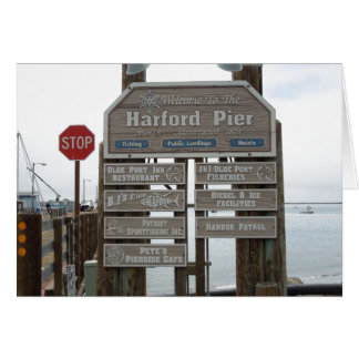 Avila Beach, Port San Luis, Harford Pier Greeting Card