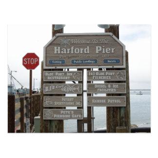Avila Beach, Port San Luis, Harford Pier Postcard