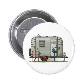 Avion Camper Trailer 6 Cm Round Badge