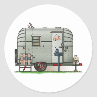 Avion Camper Trailer Round Sticker