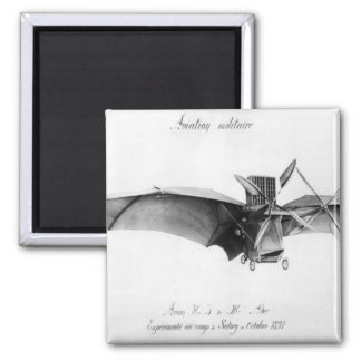 Avion III, 'The Bat' Square Magnet