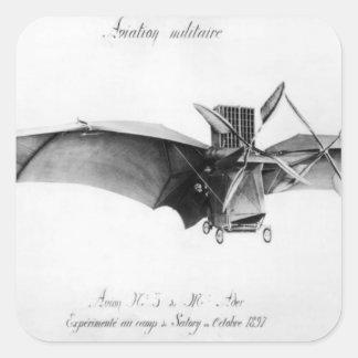 Avion III, 'The Bat' Square Sticker